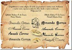Convite Casamento Amanda