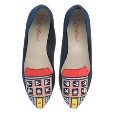 House Embroidered Shoes   Footwear   CathKidston