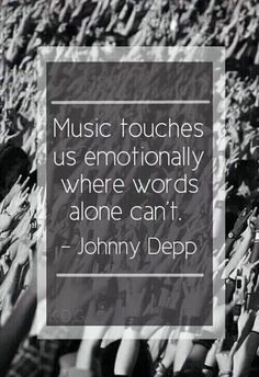 Music Touches Us Emotionally Where Words Alone Can't