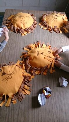 Lesson 18 craft. The children loved making their own lion pillow. Credit for idea to a previous pinner :-)