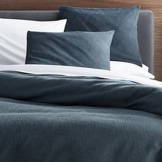 Shop Lindstrom Blue Duvet Covers and Pillow Shams.  Beautiful blue Lindstrom bed linens offer simple elegance with uniquely crafted, three-dimensional texture.