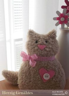 HaGi by Herzig ♥ Genaehtes: Plüschtier Katze