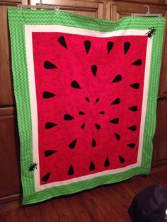 Watermelon anyone? Picnic blanket complete with ants!