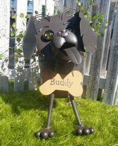Personalized  PUPPY Garden Planter w/ by IngridsSecretGarden, $33.50