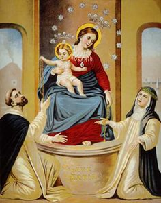 Our Lady of the Rosary.  Feast day October 7.