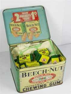 Beech-nut chewing gum, didn't they sell this from vending machines too?