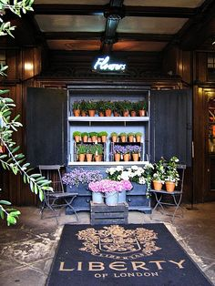The Flower Shop at Liberty. Best store in London. For everything. Except food...there's none.