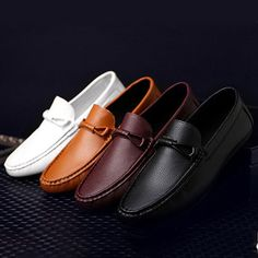 15bb1764135824 Men s Driving Casual Boat Shoes Leather Shoes Comfort Moccasin Slip On  Loafers
