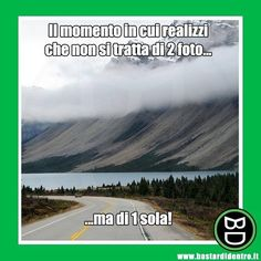 2 foto in 1 #bastardidentro #montagna #lago #strada #ipnoticamentebastardidentro www.bastardidentro.it