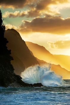Light (Sunset, Kauai, Hawaii)
