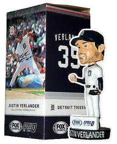 6aaf095d4 Justin Verlander Detroit Tigers Bobblehead April in The D Stadium Give Away  SGA
