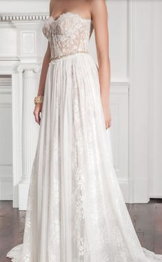 b26005340779 Featured Dress: Muse by Callie Tein via Modern Trousseau; Wedding dress  idea. Wedding
