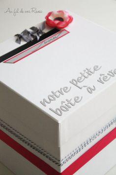 #aufildevosreves.fr #urne mariage #tirelire mariage #cards box
