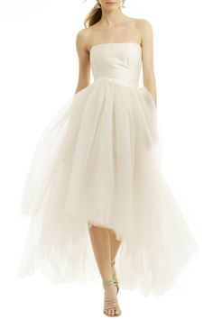 Allison Parris Silk and Tulle Gown Allison Parris Sugar Coat Dress Short Wedding Gowns, Wedding Dress Chiffon, Perfect Wedding Dress, Wedding Suits, Bridal Gowns, Wedding Dresses, Rent Dresses, Prom Dresses, Formal Dresses