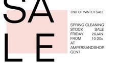 Stocksale Ampersand -- Gent -- 26/01