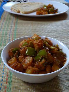 Aloo Shimla Mirch (Capsicum with Potatoes)