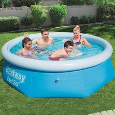 Cheap Above Ground Pool, Above Ground Swimming Pools, In Ground Pools, Pool Komplettset, Backyard Pool Parties, Quick Up Pool, Oberirdische Pools, Easy Set Pools, Gardens