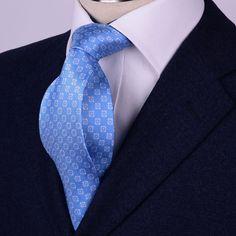Blue /& Pink Italian Fleur-De-Lis Designer Tie 8cm Necktie Florentine Accessory