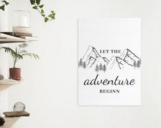 Let the adventure begin A4 poster / poster for adventurer | Etsy Funny Valentine, Valentine Day Cards, Valentines, A4 Poster, Poster Wall, Create Your Own Poster, And So The Adventure Begins, Stock Art, Place Card Holders