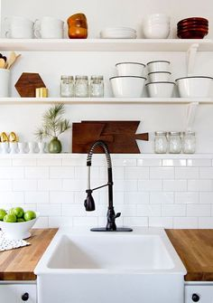 Father Rabbit's Blog. - Kitchen Shelving | Wood Glass Ceramic