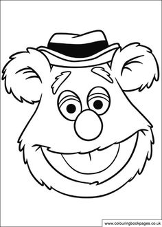 12 Muppet colouring pages including Kermit, Miss Piggy and Gonzo  http://www.colouringbookpages.co.uk/characters/muppets