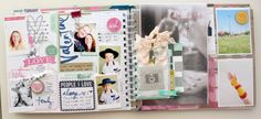 The first 6 weeks - My Memory Planner February spread #heidiswapp #heidiswapphellotoday