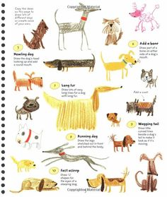 dogs - Stella Baggott - 365 Things to Draw & Paint.