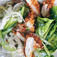 Try this Southern-Style Crispy Chicken Salad with Buttermilk Dressing recipe by Chef Donna Hay. This recipe is from the show Donna Hay: Basics To Brilliance.