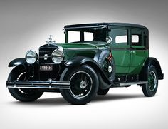 """1928 Cadillac Al Capone Town Sedan  Finally verified as the real deal, this 1928 Cadillac V-8 is """"Al Capone's"""" Town Sedan. Replete with 3,000 pounds of armor plating (since removed during restoration), inch thick glass and a drop down rear window for """"riddling the competition,"""" 90 hp, V-8 engine, 3-speed manual transmission and four-wheel drum brakes, this Caddy was designed with a purpose — to transport the infamous Chicago bootlegging gangster and his cronies in style and a bit of…"""