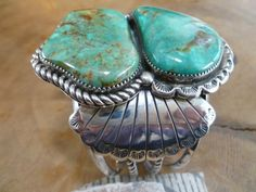 Old Pawn King Manassa Turquoise Bracelet by Unknown Artists ...