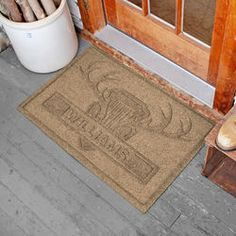 Ordinaire Waterhog 2u0027 X 3u0027 Antlers Personalized Doormat Personalized Door Mats,  Doormats, Welcome