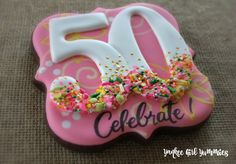 50th Birthday cookie. Yankee Girl Yummies