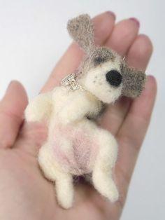 Needle felting dog..so cute