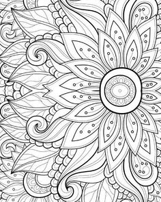Adult Coloring Page Printable Guitar Poster Instant