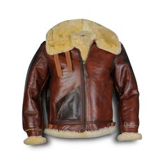 Aero Leather Type B-3 Redskin: We also use the spec weight, shorter shearling for the cuffs, waistbands and windflap. Available in original Seal ...