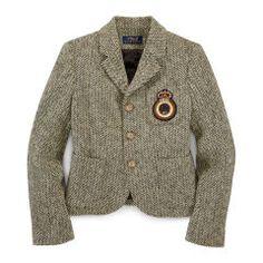 Herringbone Schoolboy Blazer - Girls 7-16 Outerwear & Jackets - RalphLauren.com