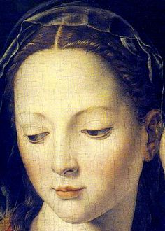 1540-50 Agnolo Bronzino (Italian, 1503-73) ~  'The Madonna and Child with the Infant St. John the Baptist'  [detail]