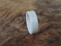 Items similar to White Birdseye Maple Wood Ring Handcrafted Bentwood Ring on Etsy