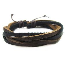 Simple woven bracelet leather bracelet with by Yourpersonalities, $3.50