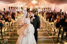 Bridesmaids' Dresses: Sherri Hill - http://www.sherrihill.com Venue: Chandelier Grove - http://www.stylemepretty.com/portfolio/chandelier-grove Event Design: Leigh Anne Tuohy - http://www.stylemepretty.com/portfolio/leigh-anne-tuohy   Read More on SMP: http://www.stylemepretty.com/2016/10/27/the-blind-side-collins-tuohy-wedding-photos/