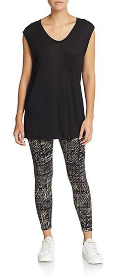 Calvin Klein Performance | Cipher-Print Leggings | SAKS OFF 5TH