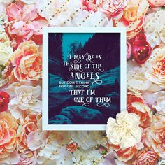 """Awesome Sherlock BBC Quote I may be on the side of the angels - 8x10"""" Sherlock Printable Poster - Sherlock BBC Wall Art- Sherlock Quote Print - Instant Download"""