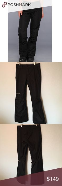 """Women's Patagonia Pants These pants are for snowboarding or winter sports. These are the h2no style. There's no tags but these would be best for size Small-Medium. Waist measures 17"""" across the front. Inseam is 33"""". These have vents at the thighs, pockets and gathering at ankles to help keep the snow out. Patagonia Pants"""