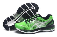 ec3832bd8262 Asics Gel Nimbus 17 Mens Running Shoes Black Green White Cheap Running Shoes