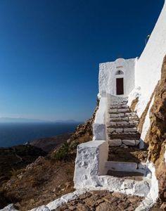 Monastery of Profitis Ilias, Patmos island, Dodecanese, Greece Santorini Villas, Santorini Greece, Vacation Places, Places To Travel, Beautiful Islands, Beautiful Places, The Places Youll Go, Places To Go, Myconos