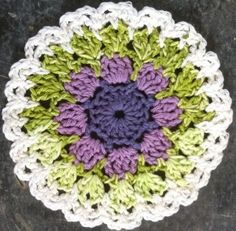 Lavender and Spearmint Dishcloth