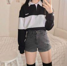 Korean Girl Fashion, Korean Fashion Trends, Kpop Fashion, Cute Fashion, Trendy Fashion, Fashion Looks, Korea Fashion, Fashion Cover, Fashion Ideas