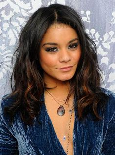 Chic Vanessa Hudgens Hairstyle Long Wavy Mixed Color 100% Human Hair Full Lace Wig about 16 Inches: wigsbuy.com