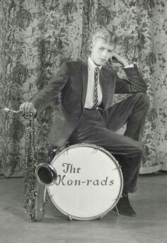 David Bowie: Promotional shoot for The Kon-rads 1963 Phot. by R.Ainsworth Courtesy of The David Bowie Archive2012 🇬🇧