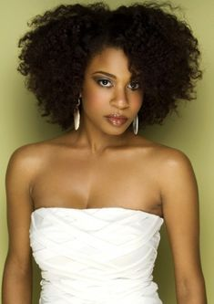 Voluminous afro style for African American women